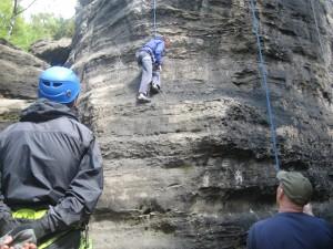 Klettern in Rathen, Elbsandstein